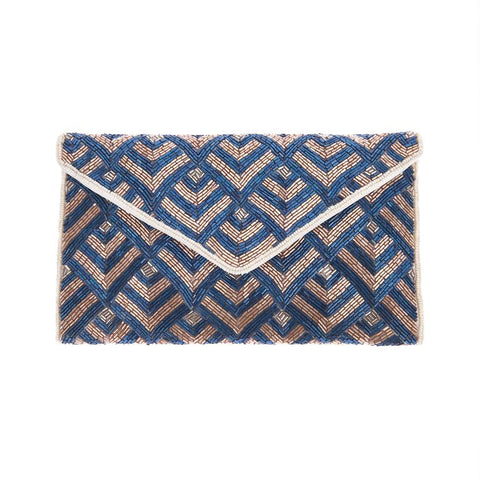 Tilda Clutch Blue Pink-From St Xavier