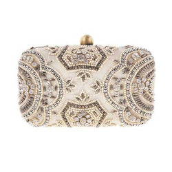 Zoey Box Clutch Ivory-From St Xavier