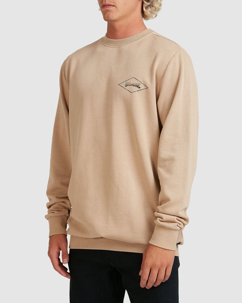 Billabong Checked Diamond Crew - Light Khaki