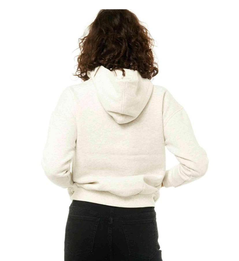 Rusty Essentials Hooded Fleece - White Marle
