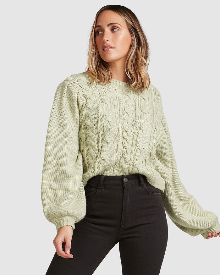 Billabong Bluesday Cable Knit Crew