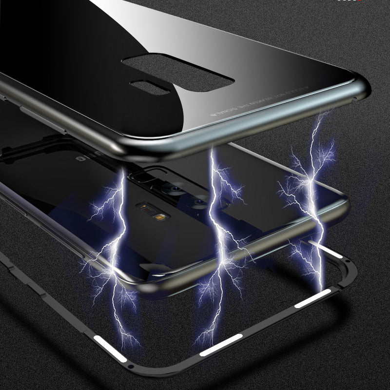 innovative design 2f217 0daa9 Phone Case - Metal Built-in Magnetic Adsorption + Glass Back Cover For  Samsung S9 S9 Plus S8 S8 Plus Note 8 S7 S7 Edge