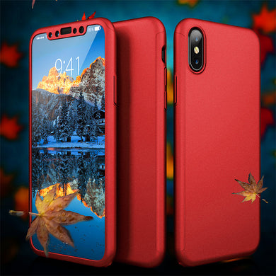 Phone Case - Luxury Ultra Thin 360 Degree Full Protection Case For iPhone X