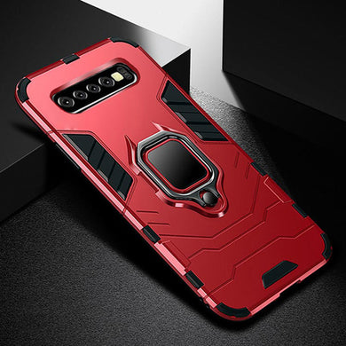 Phone Case - Armor Shockproof Silicone Ring Holder Cover Case For Samsung Galaxy S10 S9 S8 Plus Note 9 8