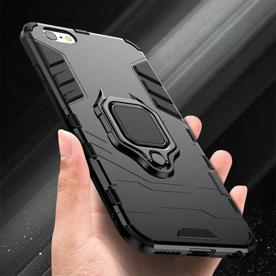 Phone Case - Luxury Armor Shockproof Finger Ring Holder Case For iPhone X XR XS XS Max 8 7 6 6S Plus