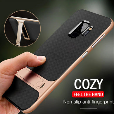 Phone Case - Luxury Shockproof Protective Case With Kickstand For Samsung S8 S8 Plus S9 S9 Plus Note 8 Note 9