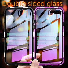 Load image into Gallery viewer, Phone Case - Luxury Metal 360 Full Body Protective Magnetic Case With Glass Cover For iPhone X XS XS Max 8 7 Plus
