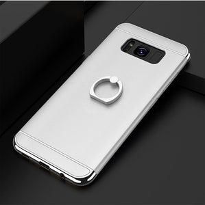 Phone Case - Shockproof Armor Metal Ring Holder Case For Samsung Galaxy S8/S8 Plus