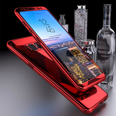 Phone Case - Luxury Plating Mirror 360 Full Protection Cover For Samsung S9 S8 Plus Note 8