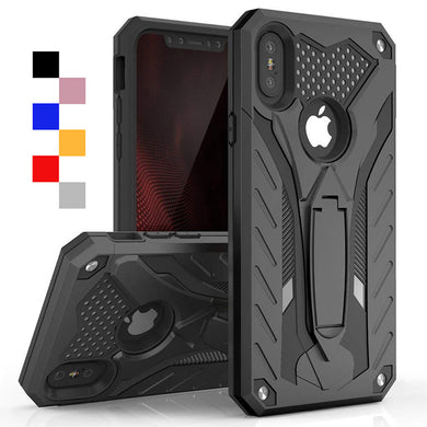 Phone Case - Shockproof Kickstand Armor Silicone Case For iPhone X XR XS Max 8 7 6 6s Plus