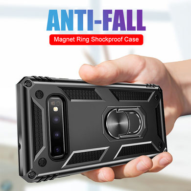 Phone Case - Armor Shockproof Car Magnet Case For Samsung Galaxy S10e S10 S9 S8 Plus Note 9 8