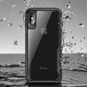 Phone Case - Luxury Transparent Silicone Shockproof Armor Case For iPhone X XR XS MAX 8 7 6 6S Plus
