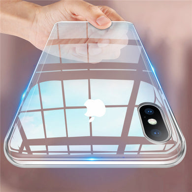 Phone Case - Transparent Soft Silicone Cover Case For iPhone X XR XS Max 8 7 6 6s Plus