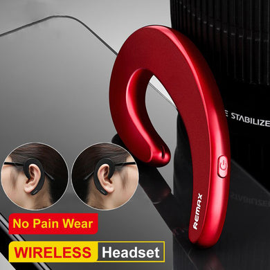 Earphone - Mini Wireless Bluetooth No Earplug Painless Wear Headset With Mic
