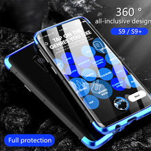 Load image into Gallery viewer, Phone Case - Luxury 3 in 1 Shockproof Aluminum Metal Case + Tempered Glass For Samsung S9 S9 Plus