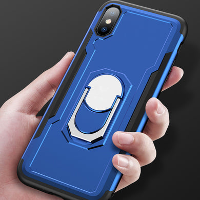 Phone Case - Car Magnet Finger Ring Armor Shockproof Cover Case For iPhone X XR XS Max 8 7 6 6S Plus