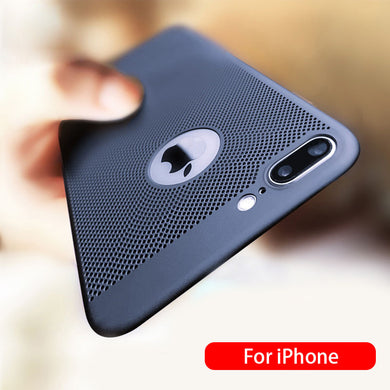 Phone Case - Ultra Thin Hollow Heat Resistance Case For iPhone X XR XS MAX 8 7 6 6S Plus