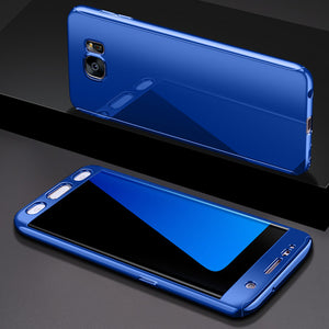 Phone Case - Luxury 360 Degree Plating Mirror Case For Samsung