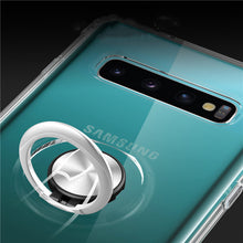 Load image into Gallery viewer, Phone Case - Transparent Magnetic 360 Rotating Ring Holder Soft Silicone Case For Samsung S10 S10 Plus S10(5G) S10e A70 A50 A30 A20
