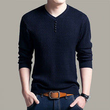 Load image into Gallery viewer, Men's Clothing - New Autumn Winter V-Neck Pullover Knitted Sweater