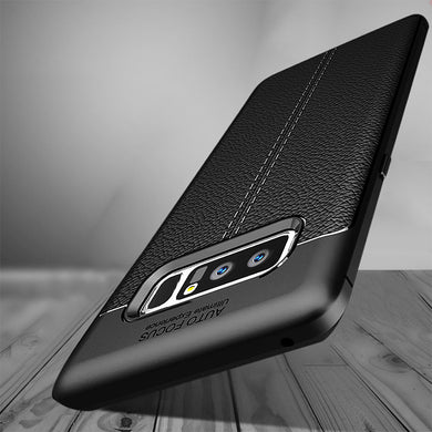 Phone Case - Luxury Shockproof Soft Silicone Leather Case For Samsung