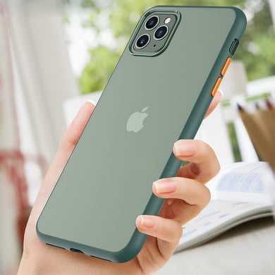 Phone Case - Fashion Shockproof Transparent Matte Case For iPhone 11/11 Pro/11 Pro Max