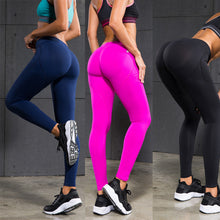 Load image into Gallery viewer, Women Elastic Peach Hip Leggings