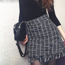 Load image into Gallery viewer, New Autumn Winter Vintage Woolen Mini Skirt