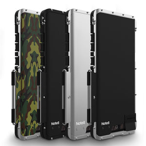 Phone Case - Luxury Armor Shockproof Aluminum Metal Flip Case For Samsung Note 8