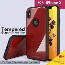 Load image into Gallery viewer, Phone Case - Luxury Shockproof Tempered Glass Rear Cover For iPhone X