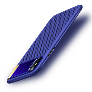 Phone Case - Hollow Heat Dissipation Armor Case + Zinc Alloy Kickstand For iPhone X 8 8 Plus 7 7 Plus