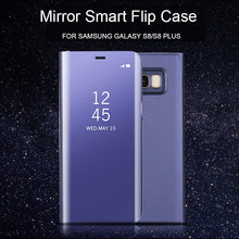 Load image into Gallery viewer, Phone Case - Clear View Mirror Smart Kickstand Flip Case For Samsung
