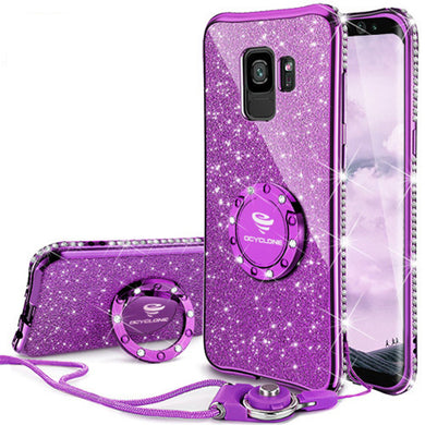 Phone Case - Bling Diamond Ring Holder Case For Samsung S9/S9+/S8/S8+/Note8