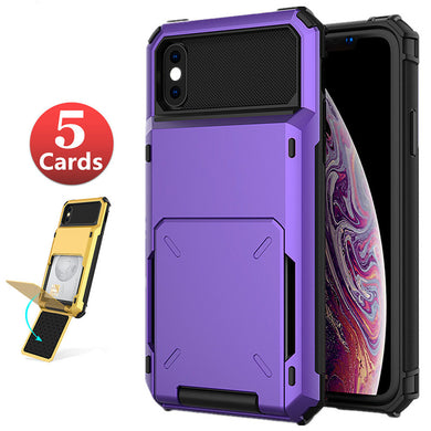 Phone Case - Shockproof Flip Card Slots Armor Case For iPhone X XR XS MAX 8 7 6 6s Plus