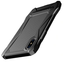 Load image into Gallery viewer, Phone Case - Luxury TPU Shockproof Carbon Fiber Case With Kickstand For iPhone X