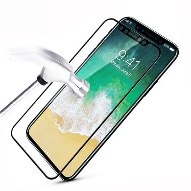 Screen Protector - 9H Tempered Glass Electroplated Curved Edge For iPhone