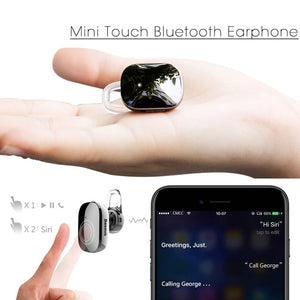 Earphone - Mini Touch Wireless Bluetooth Earphone With Mic