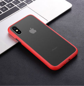 Phone Case - Luxury Shockproof Silicone Matte Case For iPhone 11 Pro Max X XR XS Max 8 7 Plus