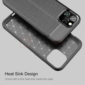 Phone Case - Luxury Leather Silicon Case For iPhone 11/11 Pro/11 Pro Max