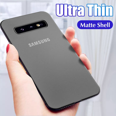 Phone Case - Ultra Thin 0.2mm Matte Case For Samsung Galaxy S8 S9 S10 S10E Plus Note 8 9 10 Pro