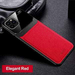 Phone Case - Luxury Shockproof Mirror Screen PU Leather Case For iPhone 11 Pro X XS XR MAX 8 7 6 6s Plus