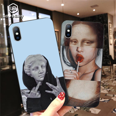 Phone Case - Fashion Abstract Art Painted Soft TPU Case For iPhone 11 Pro Max X XR XS Max 8 7 6 6s Plus