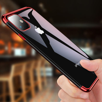 Phone Case - Luxury Transparent Soft Silicon Plating Cover For iPhone 11 Pro Max X XR XS Max 8 7 6 6S Plus