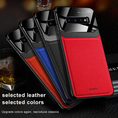 Phone Case - Luxury Mirror Screen PU Leather Case For Samsung Galaxy Note 10 8 9 S10 S9 S8 S10E Lite Plus Pro
