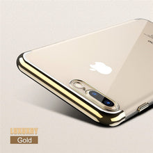 Load image into Gallery viewer, Phone Case - Luxury 3D Arc Gold Plated Transparent Case For iPhone