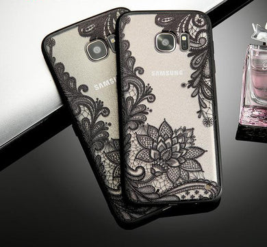 Phone Case - Hot Sexy Lace Vintage Flower Pattern Phone Case For Samsung