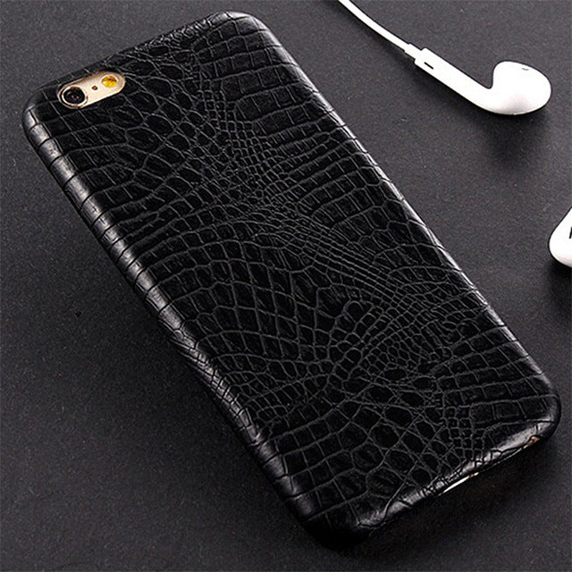 Phone Case - Luxury Crocodile Skin Texture Soft TPU Silicon iPhone Case