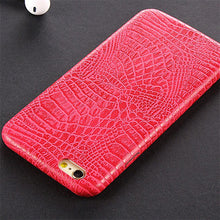 Load image into Gallery viewer, Phone Case - Luxury Crocodile Skin Texture Soft TPU Silicon iPhone Case