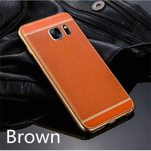 Phone Case - Luxury Leather 360 Degree Shockproof Cover For Samsung S7/S7 Edge