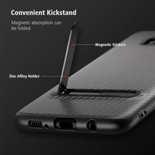 Load image into Gallery viewer, Phone Case - Luxury Soft Silicon TPU Metal Kickstand Phone Case For Samsung